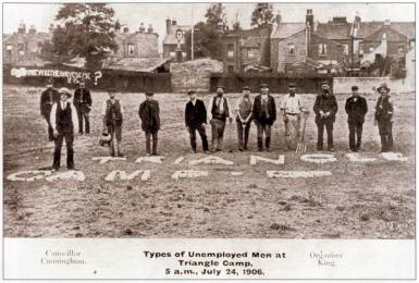The Plaistow Landgrabbers pictured in 1906.