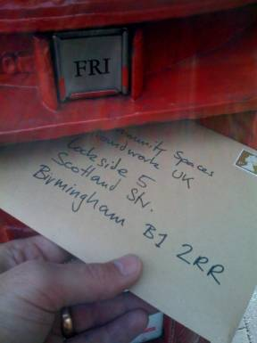 Proof of postage!